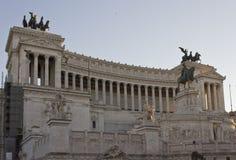 Vista di giorno dell'altare della patria a Roma Immagini Stock