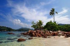 Vista di giorno dell'isola marina di Redang della sosta fotografia stock libera da diritti