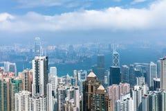 Vista di giorno dell'orizzonte di Hong Kong Fotografia Stock Libera da Diritti