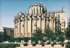 Vista di giorno della cattedrale di Mary Immaculate Vitoria Fotografia Stock
