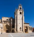 Vista di giorno della cattedrale di Palencia Fotografia Stock