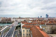 Vista di giorno della città a Lione, Francia Fotografie Stock Libere da Diritti
