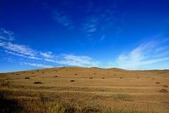 Vista di giorno della scena di autunno al Inner Mongolia immagini stock libere da diritti
