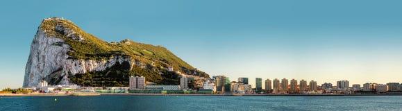 Vista di giorno di Gibilterra Immagini Stock