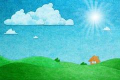 vista di giorno pieno di sole del mestiere di carta Immagini Stock Libere da Diritti