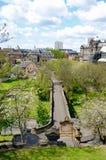 Vista di Glasgow dalla necropoli fotografia stock libera da diritti