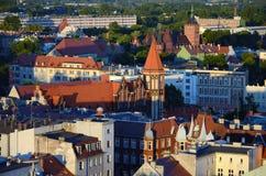 Vista di Gliwice in Polonia immagini stock