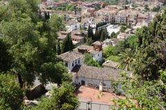Vista di Granada Fotografie Stock Libere da Diritti