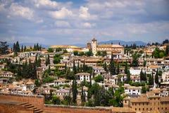 Vista di Granada Immagini Stock