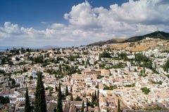 Vista di Granada da Alhambra Fotografie Stock Libere da Diritti