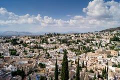 Vista di Granada da Alhambra Immagini Stock