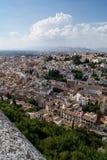 Vista di Granada da Alhambra Immagini Stock Libere da Diritti
