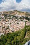 Vista di Granada da Alhambra Fotografia Stock Libera da Diritti