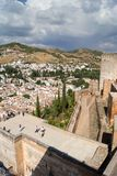 Vista di Granada da Alhambra Immagine Stock