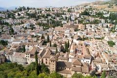 Vista di Granada da Alhambra Immagine Stock Libera da Diritti