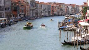 Vista di Grand Canal a Venezia video d archivio