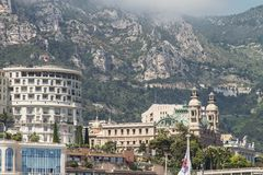 Vista di grande casinò a Monte Carlo, Monaco fotografie stock