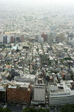 Vista di grande città inquinante moderna Immagine Stock Libera da Diritti