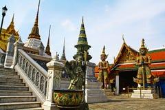 Vista di grande palazzo o di Wat Phra Kaew Immagine Stock Libera da Diritti