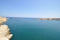 Vista di grande porto di La Valletta. Immagine Stock