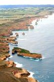 Vista di grande strada dell'oceano dall'elicottero Immagine Stock Libera da Diritti
