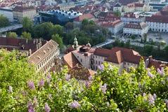 Vista di Graz Fotografia Stock Libera da Diritti