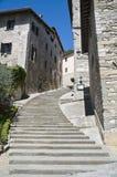 Vista di Gubbio. L'Umbria. Fotografia Stock Libera da Diritti