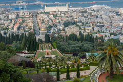 Vista di Haifa dalle altezze del monte Carmelo Fotografia Stock Libera da Diritti