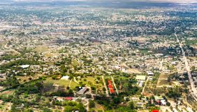 Vista di Haiti dal cielo Fotografie Stock
