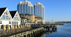 Vista di Halifax, litorale di mattina 4K di Nova Scotia stock footage