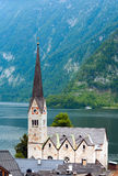 Vista di Hallstatt (Austria) Fotografia Stock Libera da Diritti