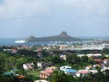 Vista di Hillside all'oceano Fotografie Stock