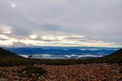 Vista di Hobart da Wellington Fotografia Stock Libera da Diritti