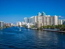 Vista di Hollywood, FL Fotografia Stock Libera da Diritti