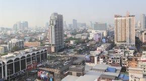 Vista di Igh della città di Bangkok nel giorno del sole Immagini Stock Libere da Diritti