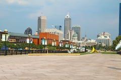 Vista di Indianapolis del centro, Indiana Fotografia Stock Libera da Diritti