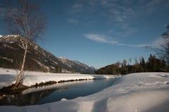Vista di inverno in Austria Fotografie Stock Libere da Diritti