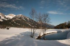 Vista di inverno in Austria Fotografie Stock
