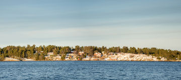 Vista di inverno da Sollenkroka, Svezia Immagini Stock Libere da Diritti