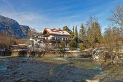 Vista di inverno dell'paesaggi meravigliosi di Garmisch-Partenkirchen Fotografia Stock