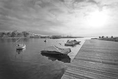 Vista di inverno della baia di Cala Estancia Immagini Stock Libere da Diritti