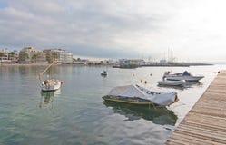 Vista di inverno della baia di Cala Estancia Fotografia Stock