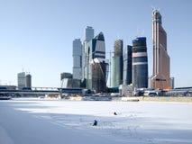 Vista di inverno della città di Mosca fotografie stock libere da diritti