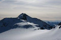 Vista di inverno delle alpi Fotografie Stock