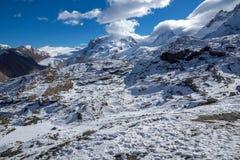 Vista di inverno delle alpi dal paradiso del ghiacciaio del Cervino, Svizzera Fotografie Stock Libere da Diritti
