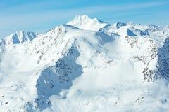 Vista di inverno delle alpi di Otztal (Austria) Fotografia Stock Libera da Diritti