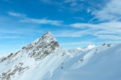 Vista di inverno delle alpi di Otztal (Austria) Fotografia Stock