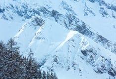 Vista di inverno delle alpi di Samnaun (svizzeri) Immagine Stock Libera da Diritti