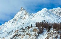 Vista di inverno delle alpi di Samnaun (svizzeri) Fotografie Stock