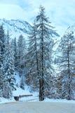 Vista di inverno delle alpi di Samnaun (svizzeri) Fotografia Stock